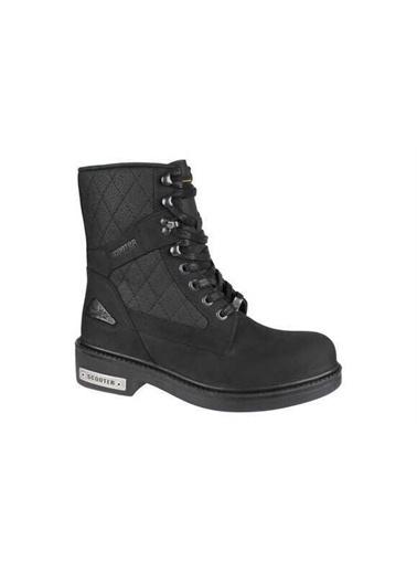 Scooter Scooter G5123 %100 Deri Bayan Bot Ayakkabı Siyah